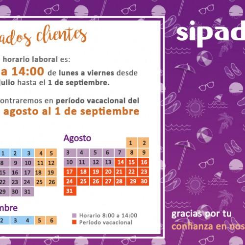 2020 horario y período vacacional SIPADAN